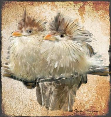 Cuckoo Digital Art - Guira Cuckoos by Ginger Sizemore