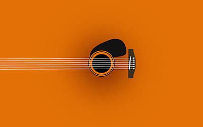 Humor Digital Art - Guitar 2 by Mark Ashkenazi