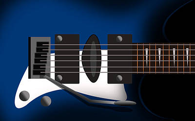 Humor Digital Art - Guitar 3 by Mark Ashkenazi