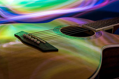 Photograph - Guitar And Light by Nathan Hillis