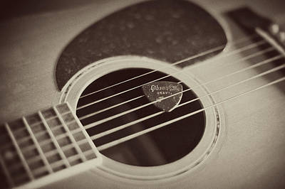 Photograph - Guitar And Pick by Terry DeLuco