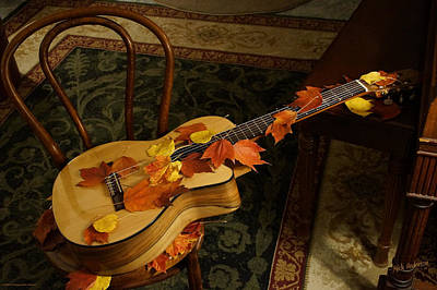Photograph - Guitar Autumn 1 by Mick Anderson