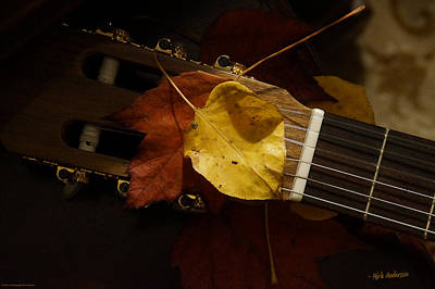 Photograph - Guitar Autumn 4 by Mick Anderson