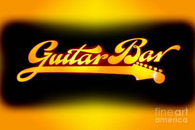 Photograph - Guitar Bar by Steven Parker