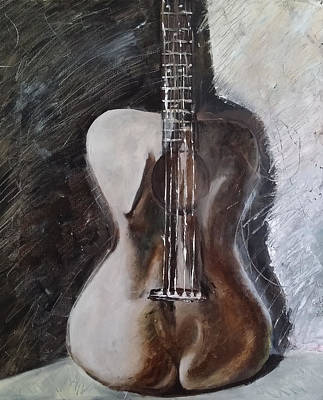 Tx Surreal Painting - Guitar Body by Morphd Mohawk
