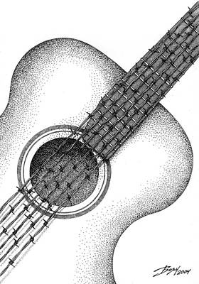 Drawing - Guitar by Boyan Donev