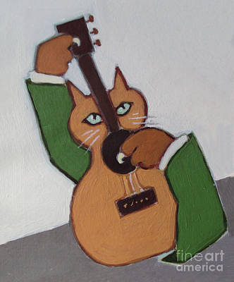 Painting - Guitar Cat by Diane Ursin