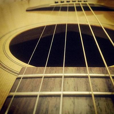 String Instrument Photograph - Guitar Closeup by Liz Grimbeek