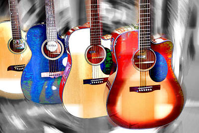 Photograph - Guitar Colors by Athena Mckinzie