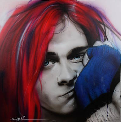 Kurt Cobain Painting - Kurt Cobain - ' Guitar Demolition ' by Christian Chapman Art