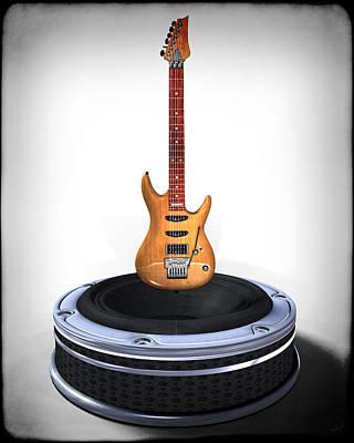 Digital Art - Guitar Desplay V1 by Frederico Borges