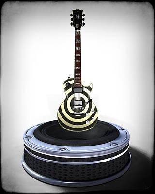 Digital Art - Guitar Desplay V2 by Frederico Borges