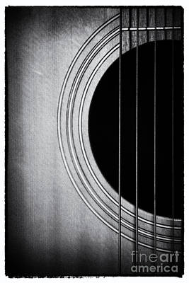 Guitar Film Noir Art Print by Natalie Kinnear