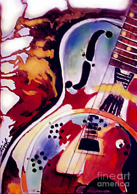 Acoustic Guitar Painting - Guitar Flow by Melanie D