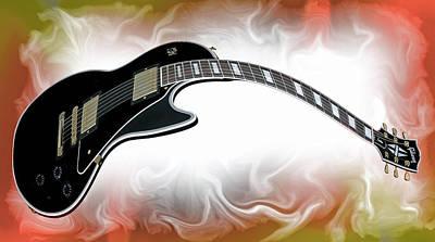 Guitar Player Digital Art - Guitar Heat by Daniel Hagerman