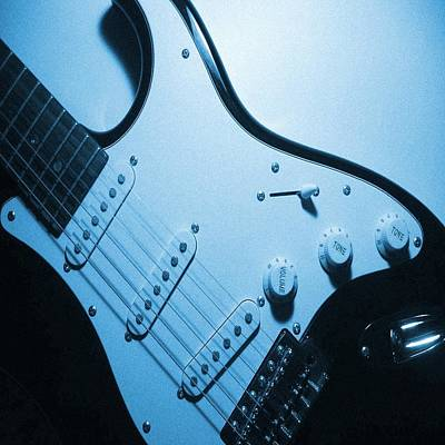 Photograph - Guitar In Blue by Florene Welebny