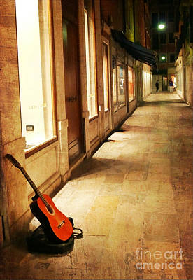 Photograph - Guitar In The Alley by Jeanne  Woods