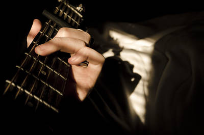 Photograph - Guitar In The Light And Shadows by Heather Grow