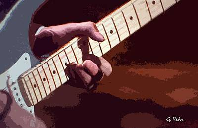 Painting - Guitar Legend 1 by George Pedro