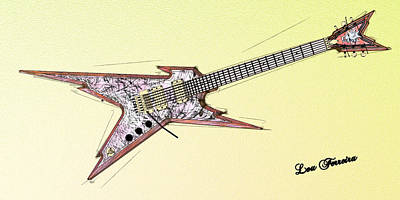 Digital Art - Guitar  by Louis Ferreira