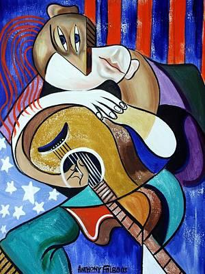Singer Digital Art - Guitar Man by Anthony Falbo