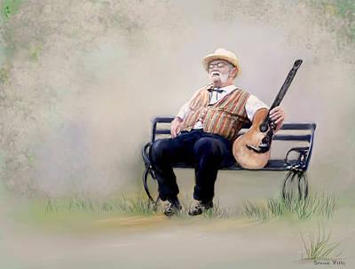 Guitar Man Art Print by Bonnie Willis