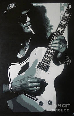 Guitar Man Art Print by ID Goodall