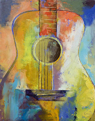 Guitar Melodies Art Print by Michael Creese