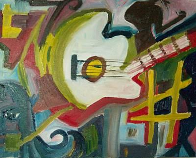 Guitar Muse In C Sharp Art Print by James Christiansen