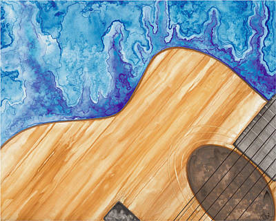 Painting - Guitar Music Moves Me by Debi Hammond
