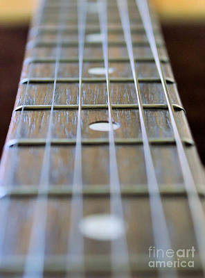 Keith Richards - Guitar Neck And Strings by Brian Raggatt