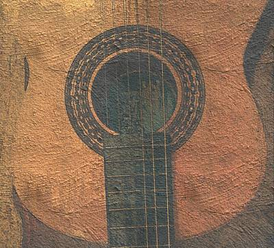 Photograph - Guitar On Paper by Isabella F Abbie Shores