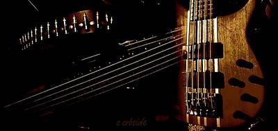 Guitar Panorama  Art Print