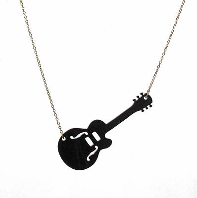 Perspex Jewelry Jewelry - Guitar Pendant Necklace by Rony Bank