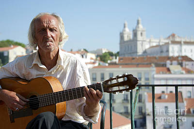 Photograph - Guitar Player Lisbon by Jan Daniels