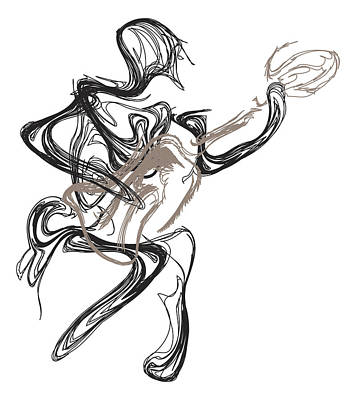 Pen And Ink Drawing Digital Art - Guitar Player by Michael Lee