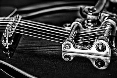 Mick Jagger - Guitar Reflection by Karol Livote