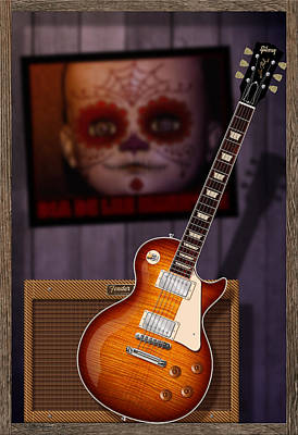 Jimmy Page Digital Art - Guitar Scene by WB Johnston