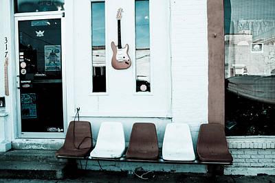 Digital Art - Guitar Store by Audreen Gieger