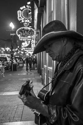 Photograph - Guitar Street Performer In Nashville  by John McGraw