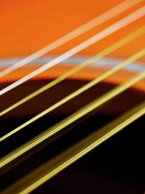Guitar Strings Vibrating Art Print by Science Photo Library
