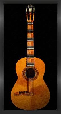 Digital Art - Guitar... by Tim Fillingim