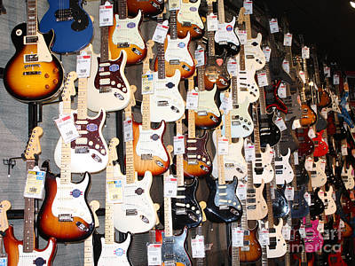 Guitar Wall Of Fame Art Print