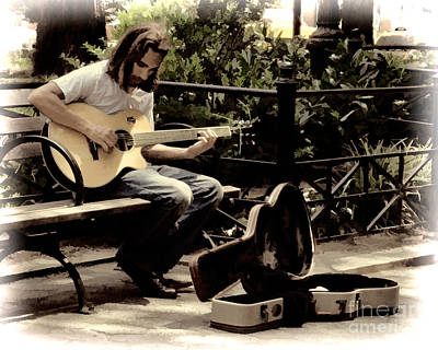 Photograph - Guitarist In The Park by Anne Ferguson