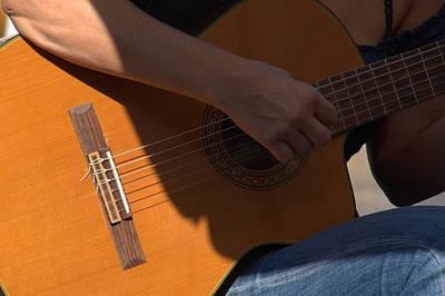 Photograph - Guitarist 's  Hand by Caroline Stella