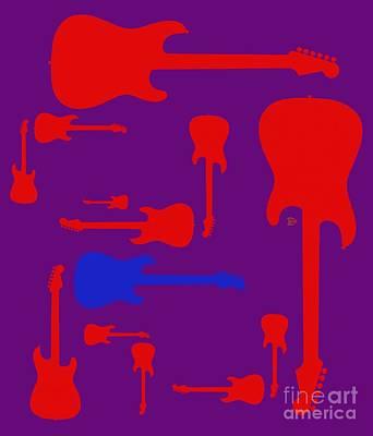 Art Print featuring the digital art Guitarpop 2 by Andy Heavens