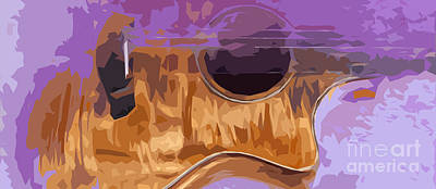 Royalty-Free and Rights-Managed Images - Guitarra acustica 2 by Drawspots Illustrations