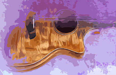 Bass Digital Art - Guitarra Acustica 3 by Pablo Franchi