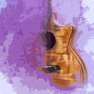 Royalty-Free and Rights-Managed Images - Guitarra acustica 5 by Drawspots Illustrations