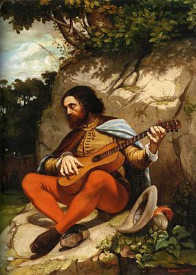 Guitar Player Digital Art - Guitarrero by Gustave  Courbet